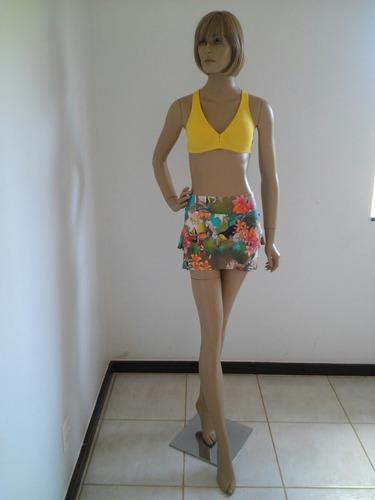 short saia estampado top fitness feminina tam p afrodite