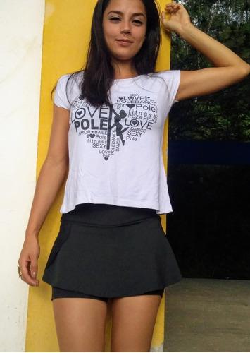 short saia fitness / academia - kit com 03 peças