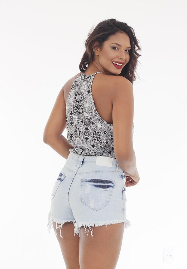 b127aff33 Short Saia Jeans Handara - R$ 179,90 em Mercado Livre