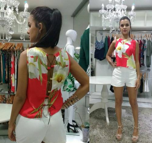 short social feminino cintura alta tecido alfaiataria