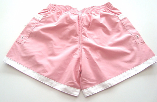 short tactel infantil menina rosa bebê banana girls