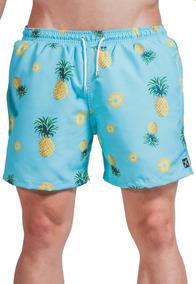 14714816758f Short Masculino Estampa Abacaxi - Calçados, Roupas e Bolsas Azul ...