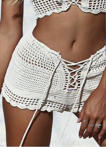 short tejido al crochet***marca myrvil***
