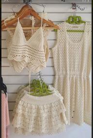 bf0c9378f Short, Tops Y Vestidos Tejidos En Crochet