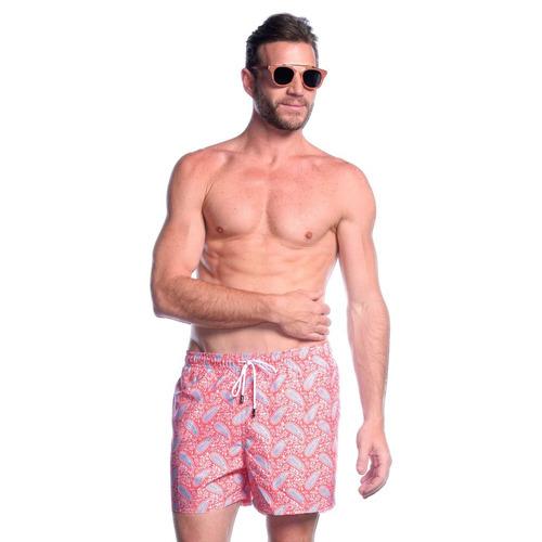 short traje de baño, 98 coast av., coral bandana