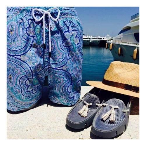 short traje de baño, 98 coast av., med blue