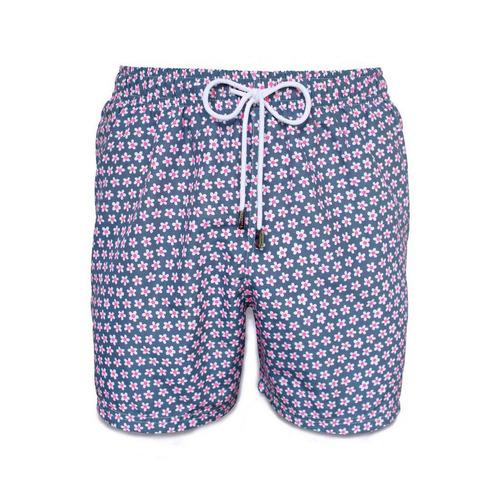 short traje de baño, 98 coast av., neon daisies