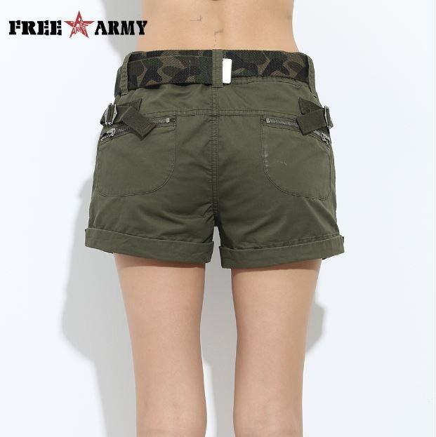 1a443952da79 Short Verde Militar Para Mujer