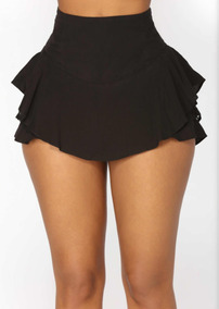 8af28109cca4 Short Vestir Casual Tipo Falda Talla Xs Negro Corto Playa