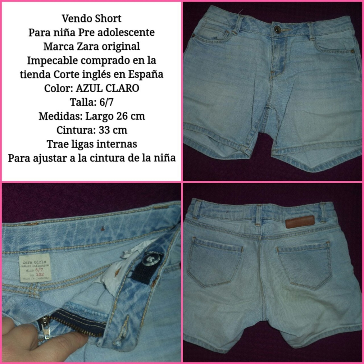 Short Zara Girl Talla 6 7 Niña 10 Trump - Bs. 10 ab3e8cd3928
