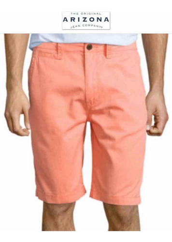 shorts 34 arizona bermuda naranja 100% algodon hombre super!