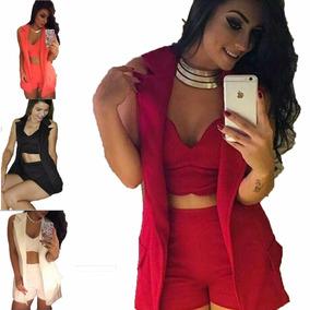 d35f8f387f7 Roupas Femininas Conjuntos Cropped Adidas Tamanho U - Short U no ...