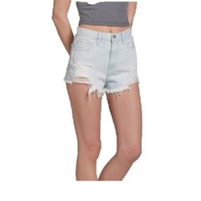 4d9572cccfe34 Hollister Short Jeans Feminino Tam W29 Eua   38 Br