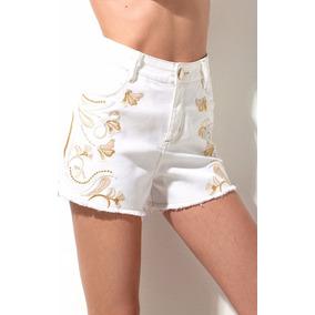 daf8a0b0d Short Branco Feminino - Shorts Sarja Morena Rosa para Feminino no ...