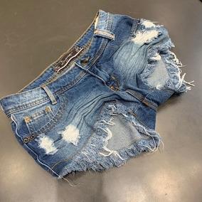 a613ac374 Short Intermediario Feminino Jeans Com - Shorts no Mercado Livre Brasil