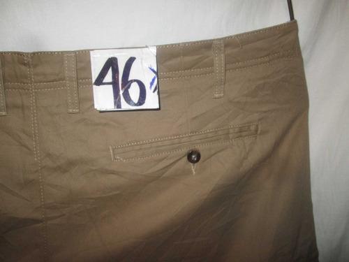 shorts bermuda beige obscuro tipo cargo talla 46 merona