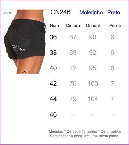 shorts bermuda ciclista calças cintura baixa média alta 246