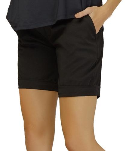 shorts bermuda gestante spandex eternity preto megadose
