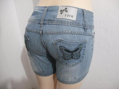 shorts bermuda jeans luck tam 36 usado bom estado