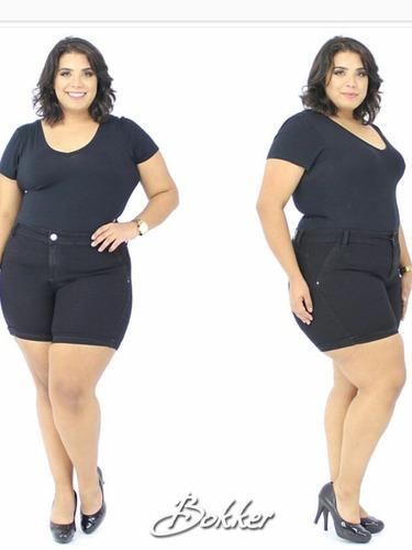 shorts bermuda plus size jeans roupas femininas do 44 ao 54!