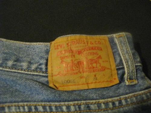 shorts bermudas de mesclilla levi strauss talla w34