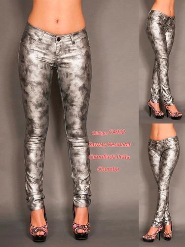 shorts calças bermudas da sawary 932 prata cinza  resinadas