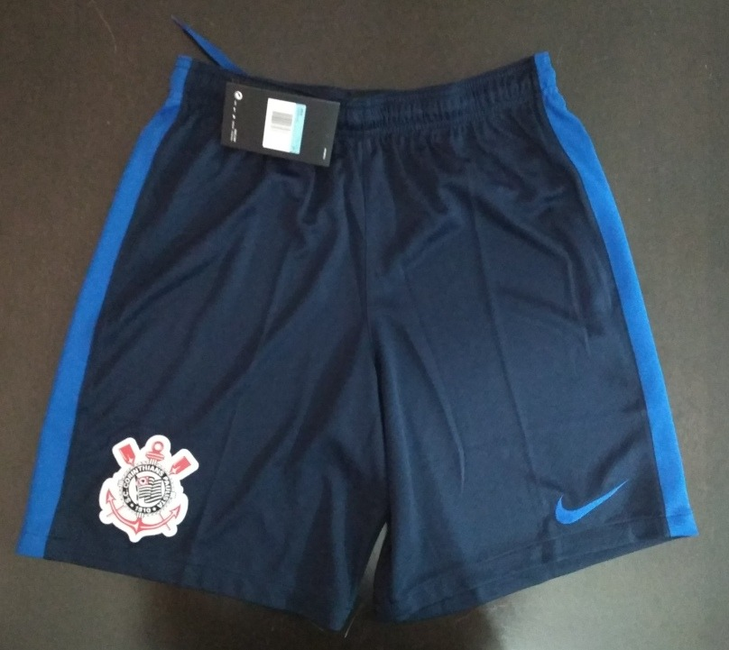 shorts calção corinthians nike azul original masculino. Carregando zoom. f50c7b54563f8