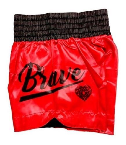 shorts calção de luta muay thai cetim brave rudel sports