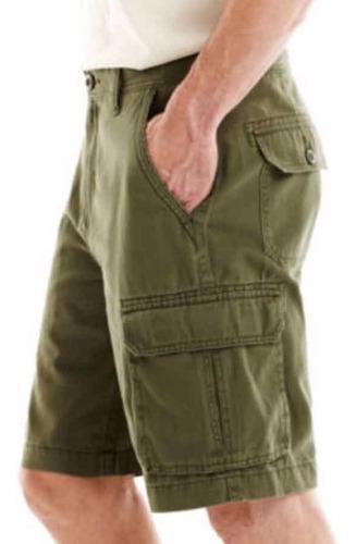 shorts cargo 42 st john bermuda azul marino 100% algodon hom