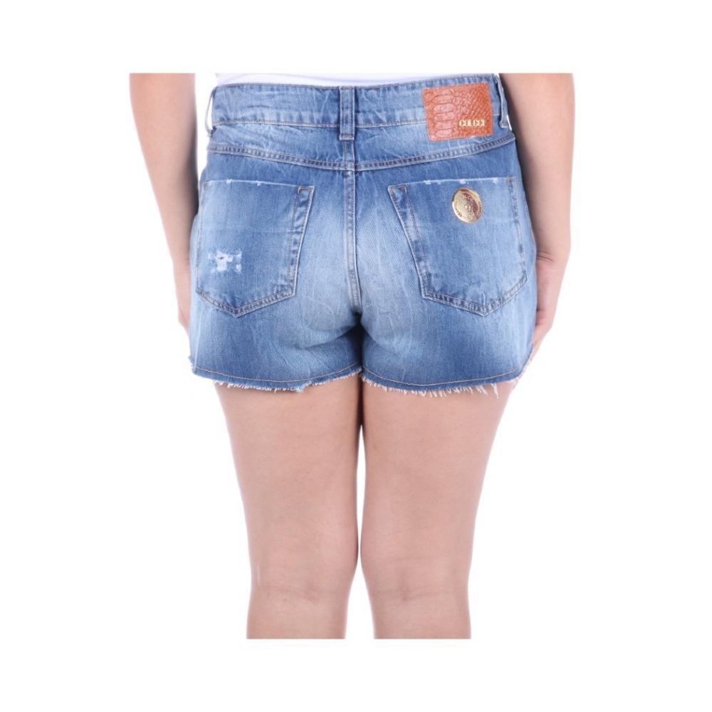 a487620ef Shorts Colcci Feminino Em Jeans Megan Com Puídos - R$ 349,00 em ...
