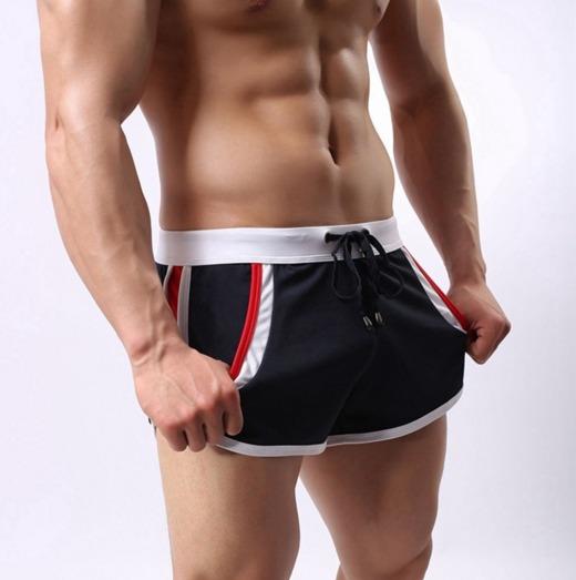 b589f8f60fee Shorts Cortos Gym Traje De Baño Bermudas Moda Japonesa Playa