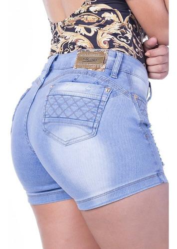 shorts curto zigma com recorte coração levanta bumbum e bojo