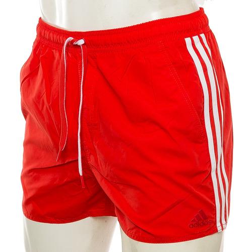 shorts de baño 3 tiras rojo adidas sport 78