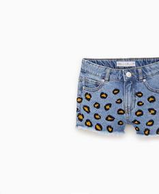 13e0cdfd1 Shorts De Jeans Para Niñas Marca Zara. Talla: 10