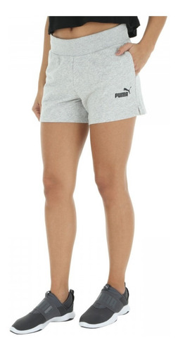 shorts de moletom puma feminino essentials sweat