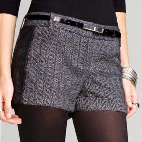 Shorts De Vestir Express Color Gris Talla 0 Nuevo