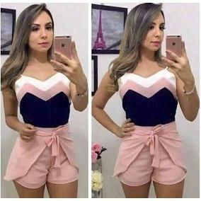 25111dbdd1 Shorts Envelope Atacado 5 Peças Revenda Moda Verão 2018 - R  129