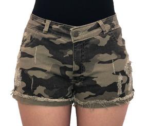 18a9d1f91b Short Jeans Militar Feminino - Shorts com o Melhores Preços no Mercado  Livre Brasil