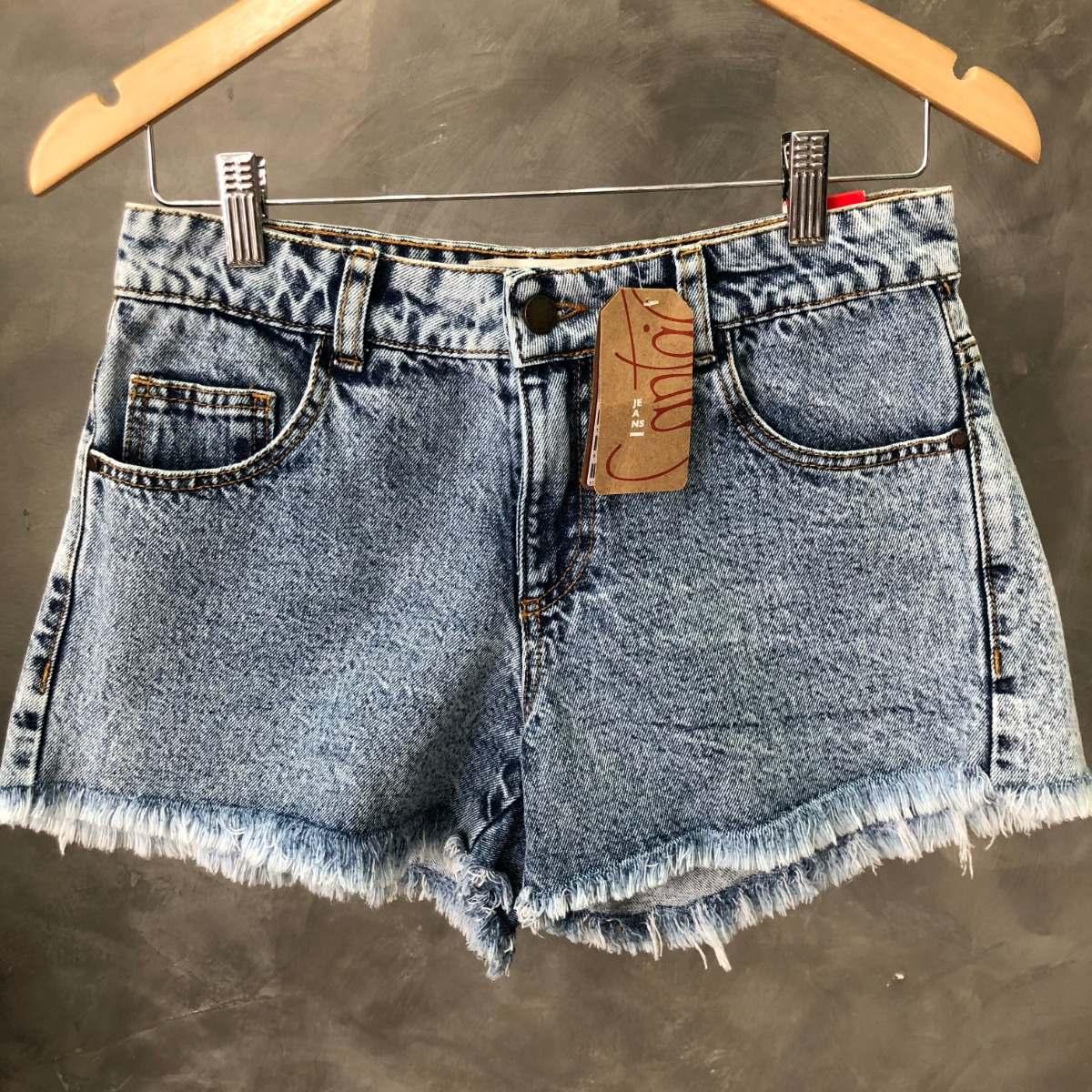 a831dccff Shorts Feminino Cantão Jeans Desfiado Oferta 012 - R$ 229,00 em ...