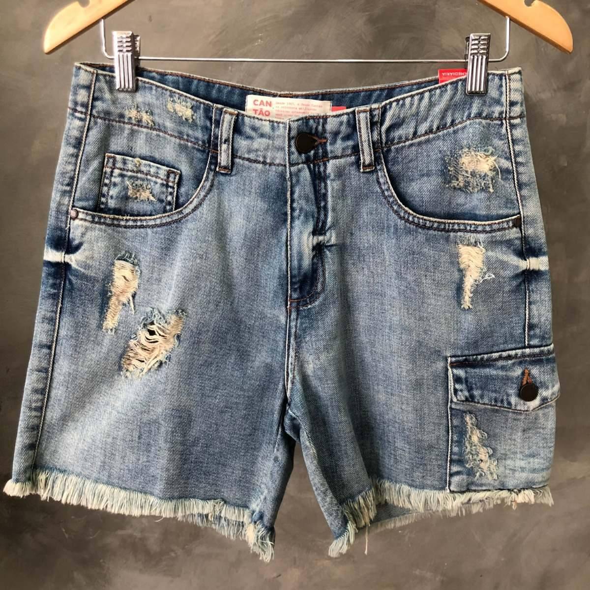 e13bc6bc0 Shorts Feminino Cantão Jeans Destroyed Oferta 009 - R$ 229,00 em ...