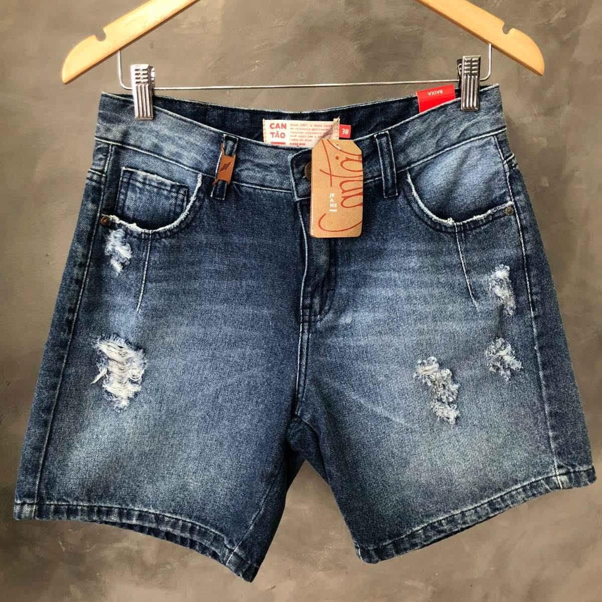 78fe9681a Shorts Feminino Cantão Jeans Destroyed Oferta 010 - R$ 229,00 em ...