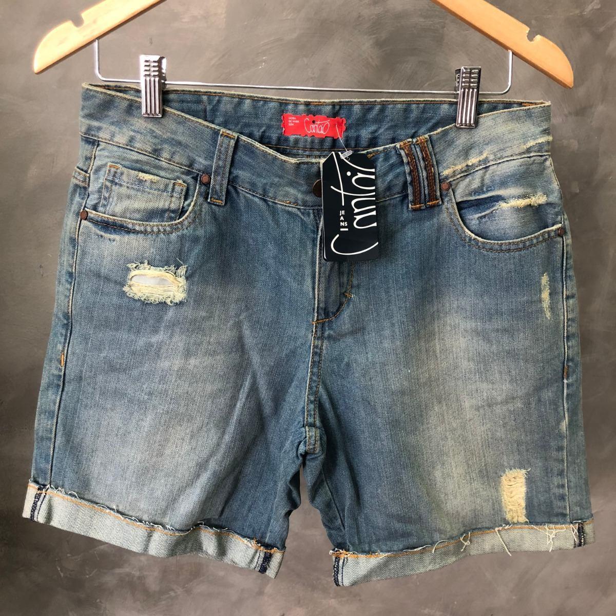 33907f23c Shorts Feminino Cantão Jeans Destroyed Oferta 013 - R$ 169,00 em ...