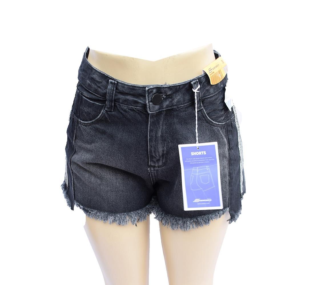 e3d0e3afa4655 shorts feminino sawary jeans boyfriend 100% algodão - 256362. Carregando  zoom.