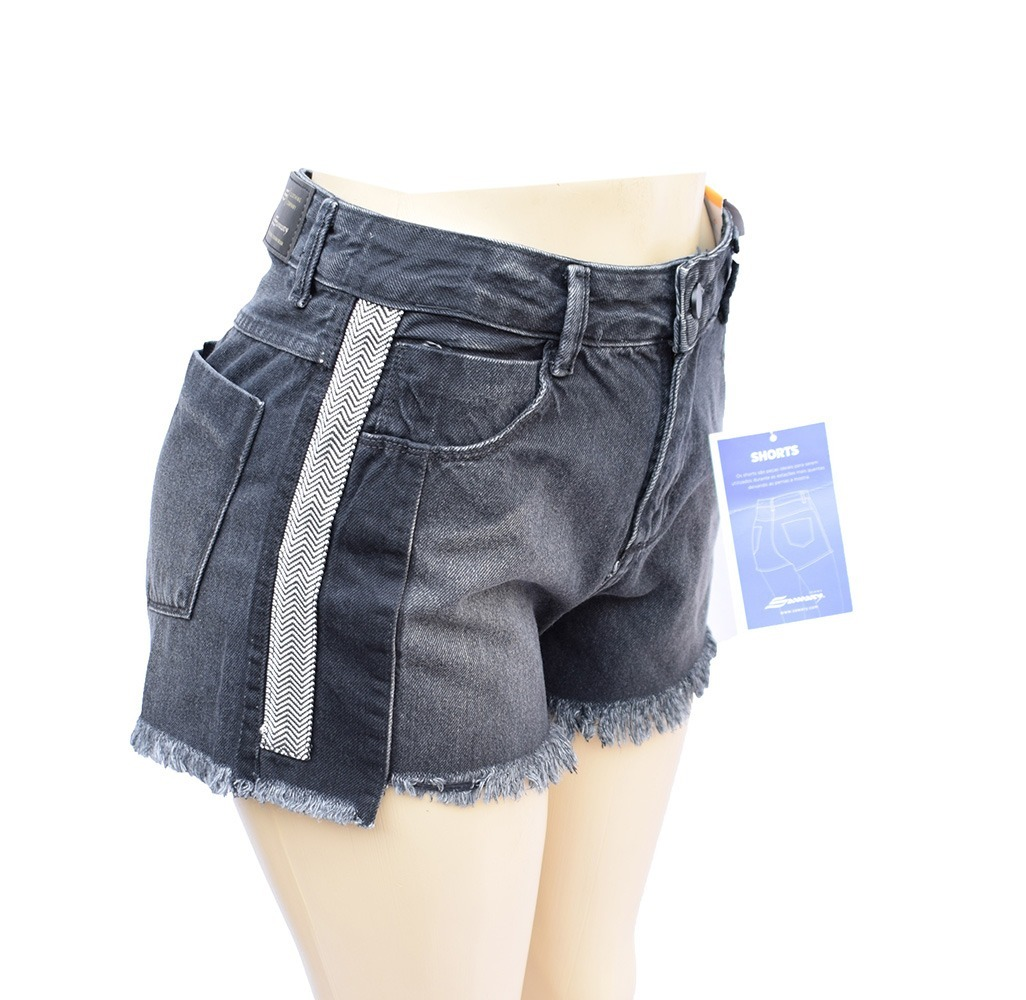 869b16a942 shorts feminino sawary jeans boyfriend 100% algodão - 256362. Carregando  zoom.