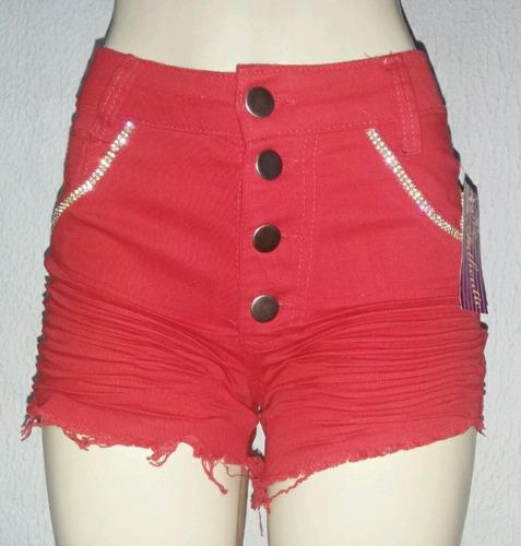shorts feminino vermelho