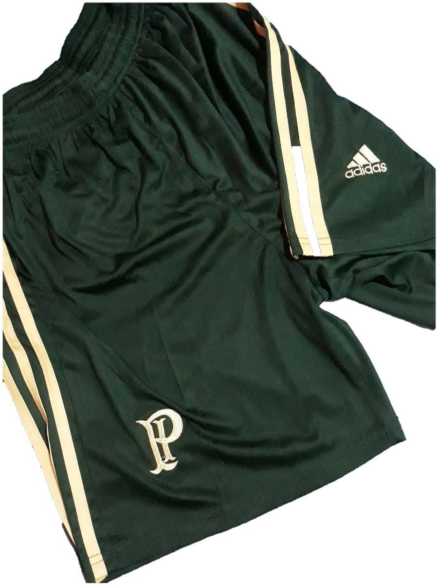 bee9428b34 Calçao adidas Palmeiras Shorts Treino Academia Futebol Verde - R  39 ...
