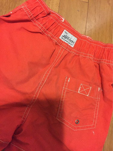 shorts infantil vermelho polo ralph lauren importado tam. 2