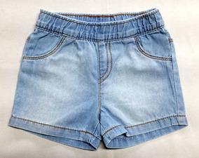 7ee3d8f9a54ef9 Shorts Jeans Bebê Menina Da Puc