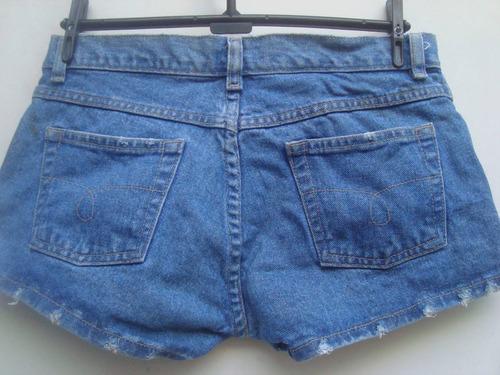 shorts jeans da clock house ( c& a) com brilhos tam 40