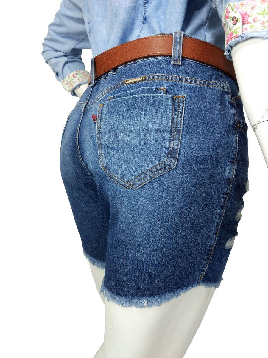 6987d161a1 shorts jeans destroyed plus size tamanho grande feminino. Carregando zoom...  shorts jeans destroyed feminino. Carregando zoom.